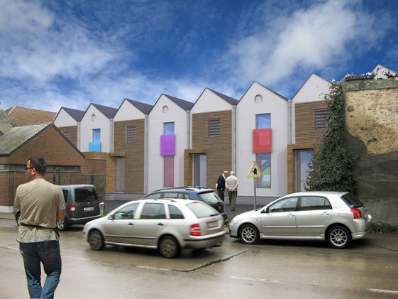 Quatres logements dans un garage